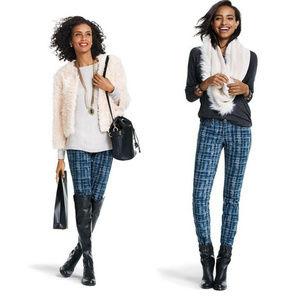 Cabi Stretch Grid Curvy Skinny Jeans sz 4